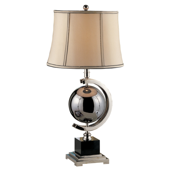 09T530 | Blackened Chrome Sphere Table Lamp