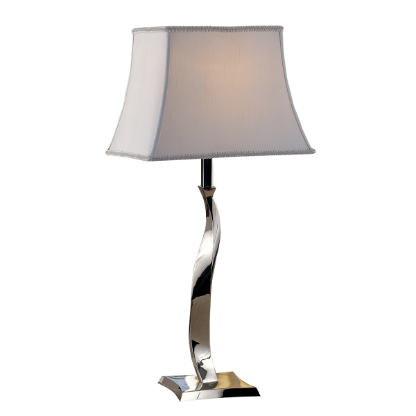 09t536 chrome twist table lamp welcome home accents 09t536 chrome twist table lamp aloadofball Images