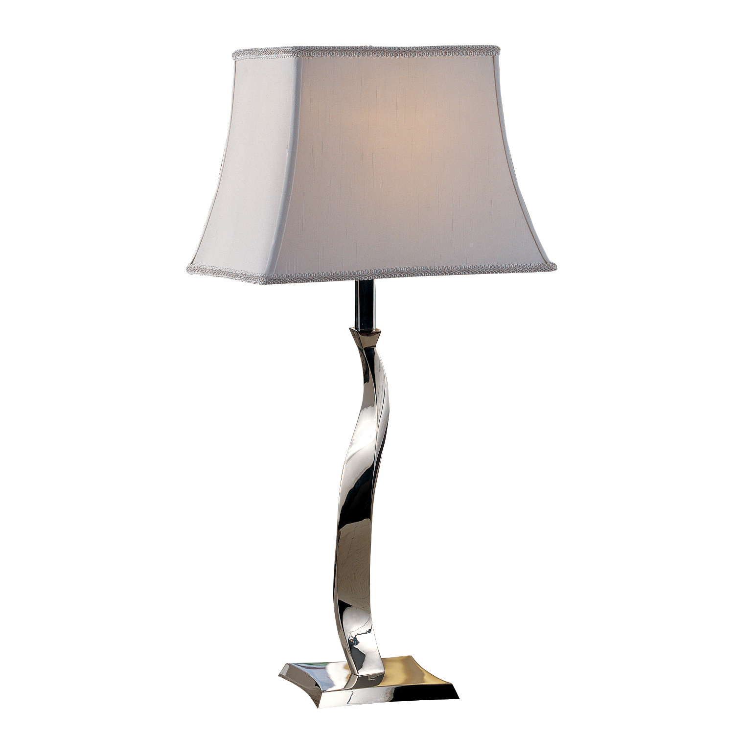 09t536 chrome twist table lamp welcome home accents aloadofball Choice Image