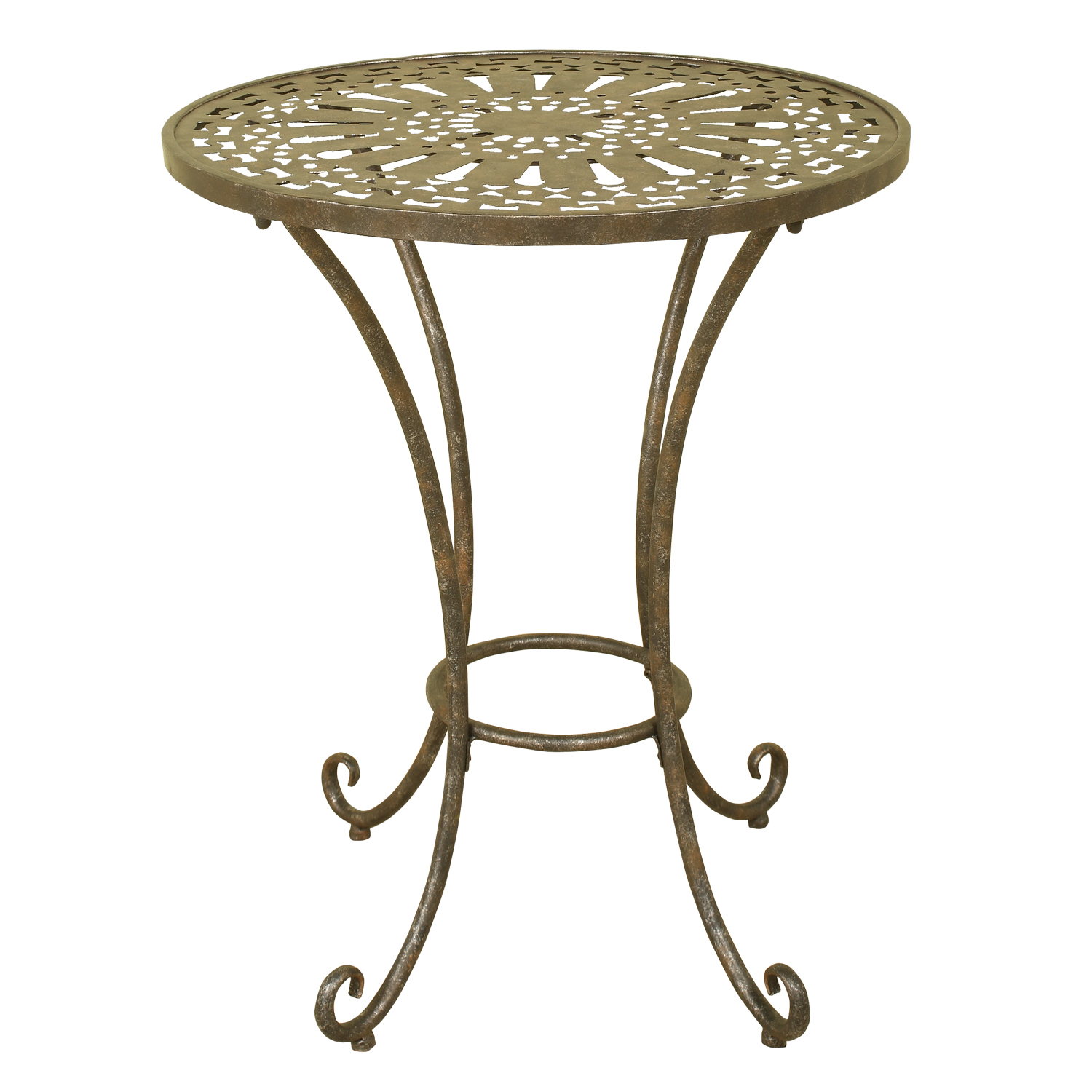 Picture of: 1217 Metal Accent Table Welcome Home Accents