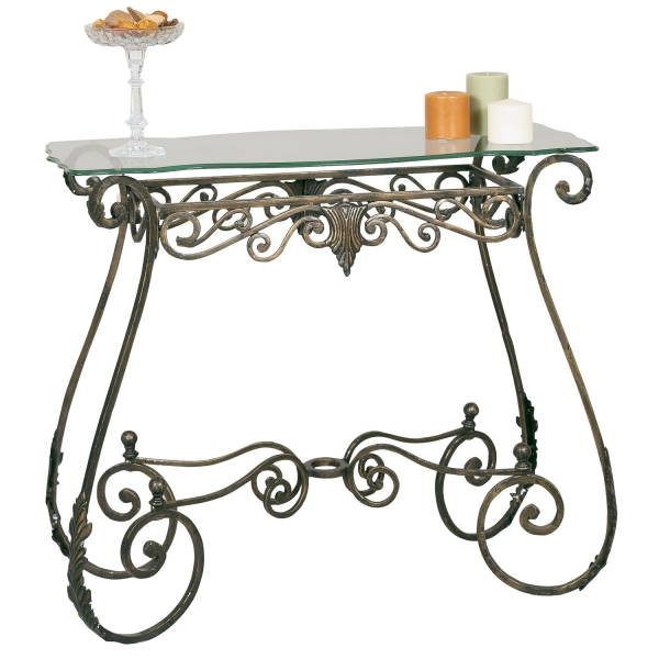 2564BR | Metal Console Table