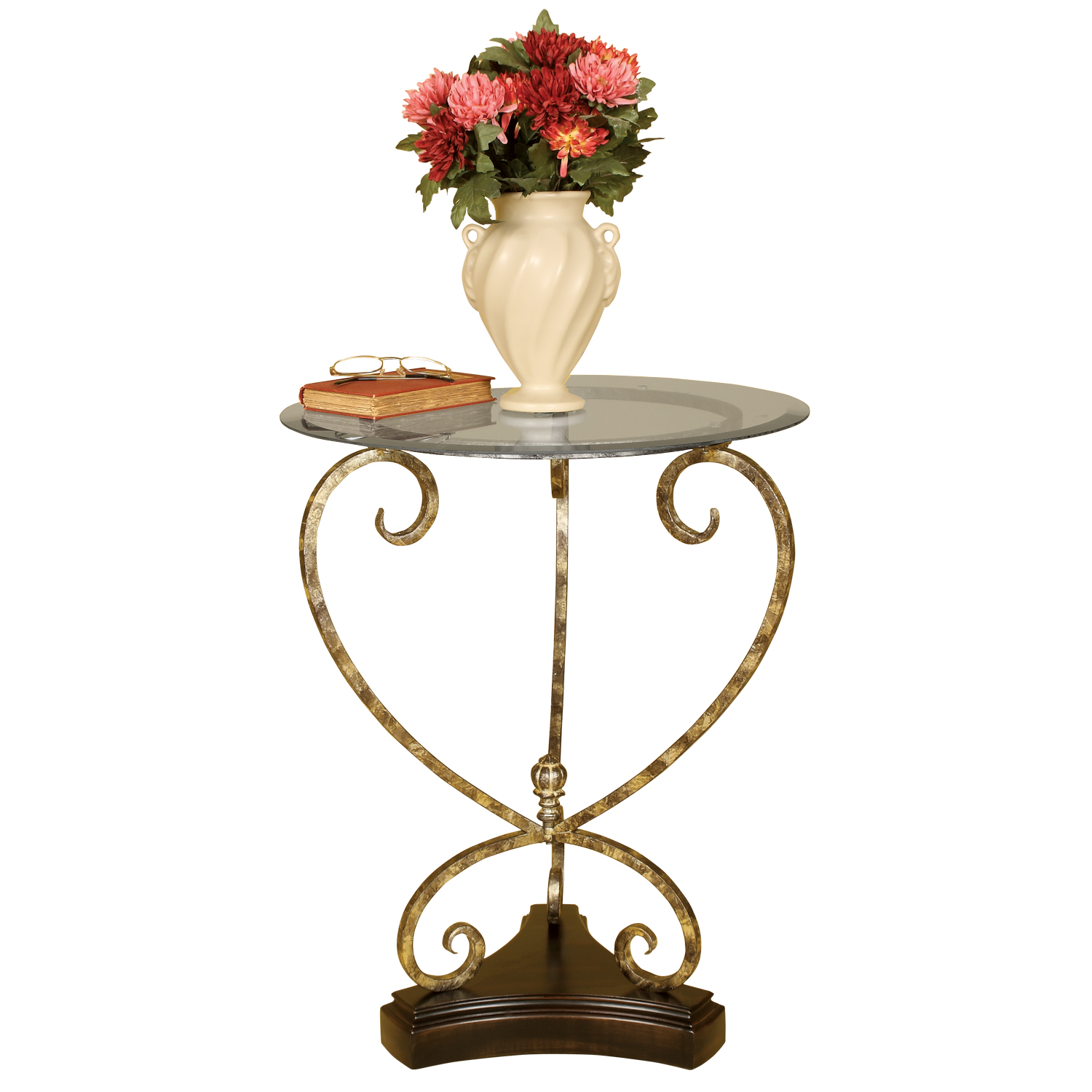 Welcome Home Accents Metal Accent Table with Glass Top at Sears.com